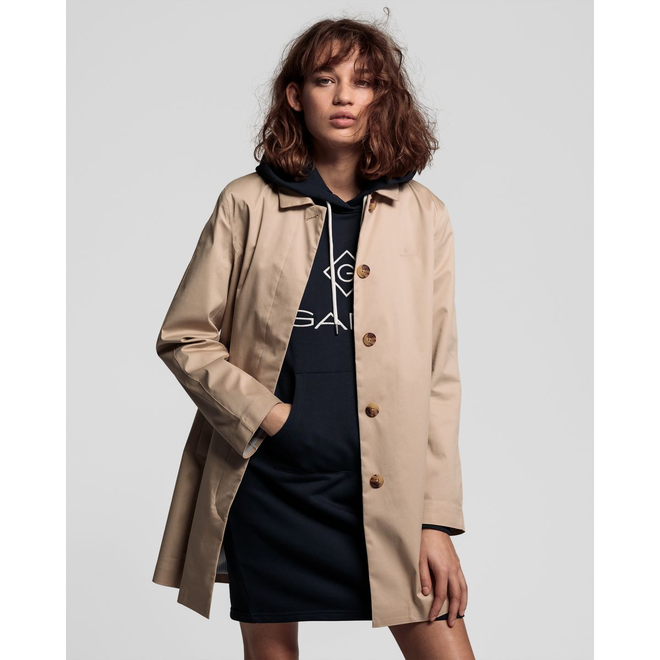 Brown Tech Prep™ Rain Mac Coat women
