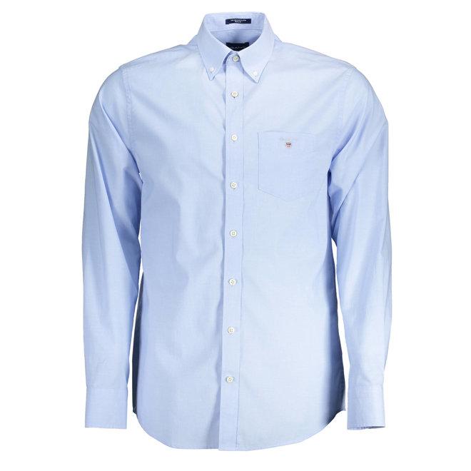 Regular Fit Broadcloth Shirt - Hamptons Blue