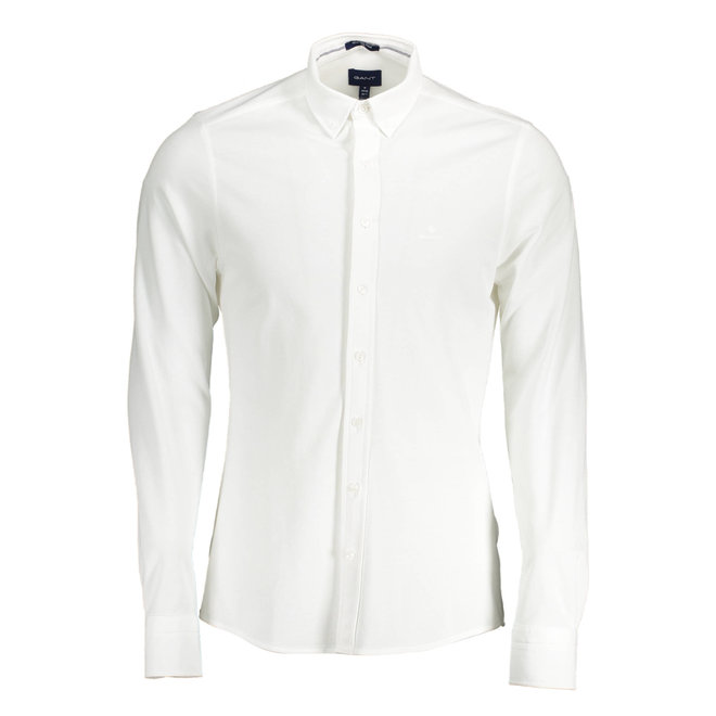 Slim Fit Tech Prep™ Piqué Shirt - White