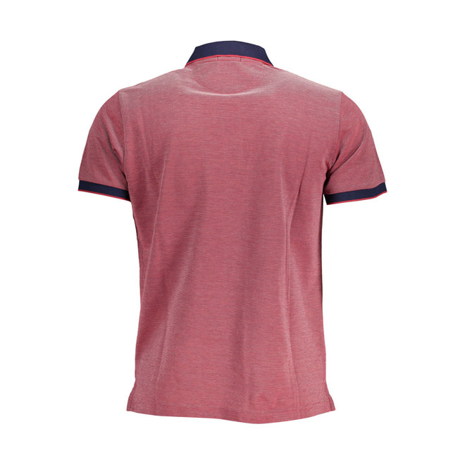 Bright Red 4-Color Oxford Piqué Rugger men