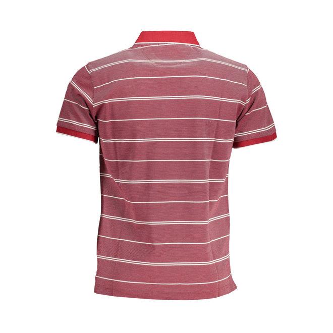 Red 4-Color Oxford Stripe Piqué