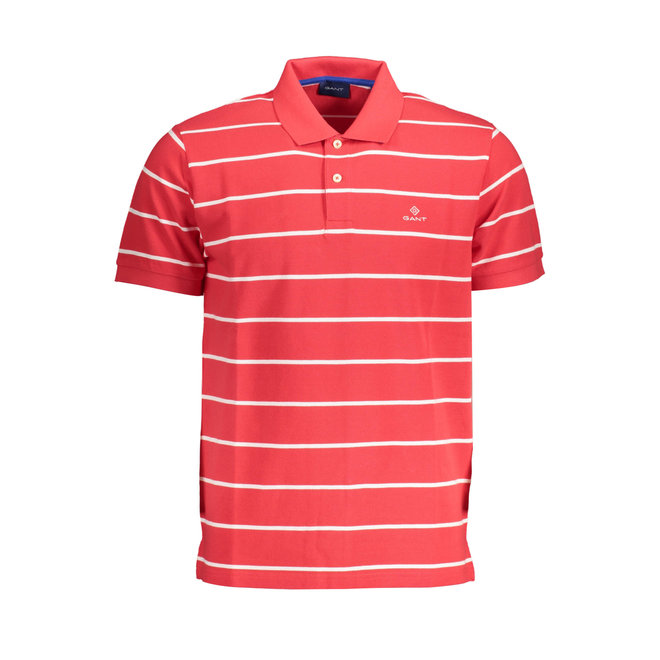 Red Breton Stripe Piqué Rugger