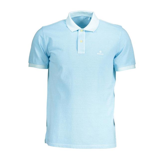 Sunfaded Piqué Rugger men  - Aquatic Blue