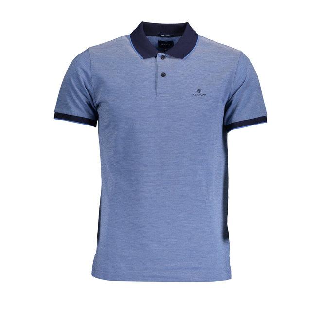 Pacific Blue 4-Color Oxford Piqué Rugger men