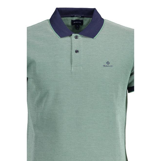 4-Color Oxford Piqué Rugger - Green