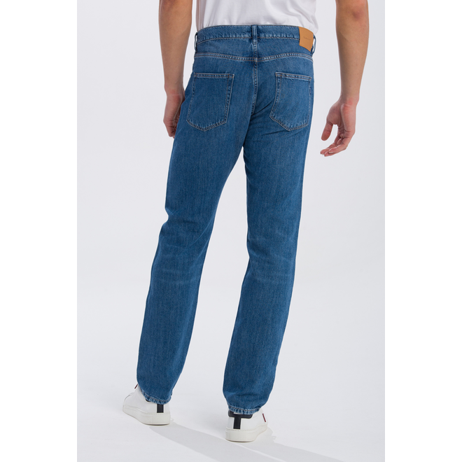 Relaxed Linen Denim Jeans