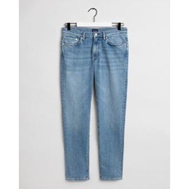 Slim Fit Jeans men - Light Blue Worn In
