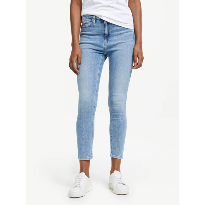 CKJ 010  High rise skinny ankle jeans Women