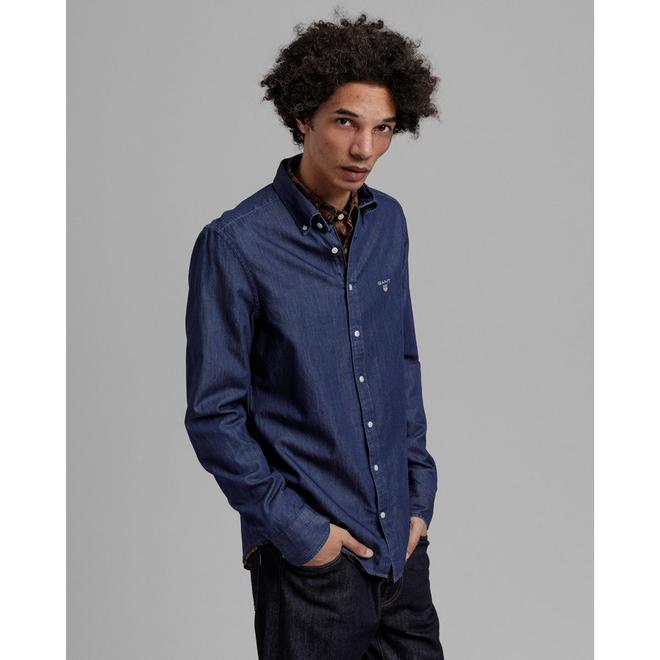 Blue Slim Fit Indigo Shirt men