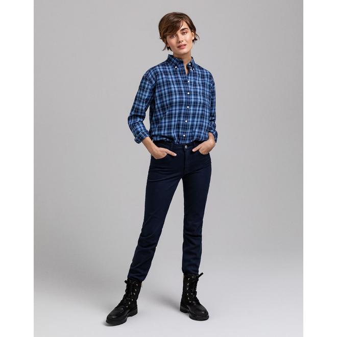 Slim Fit Twill Jeans - Blue