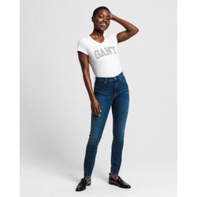 Skinny Fit Super Stretch Jeans - Mid Blue Worn In