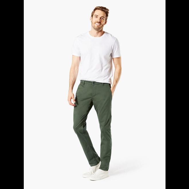 Alpha Men's Khaki Pants, Slim Fit