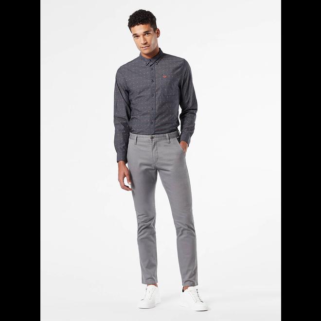 Alpha Men's Khaki Pants, Skinny Tapered - Grey