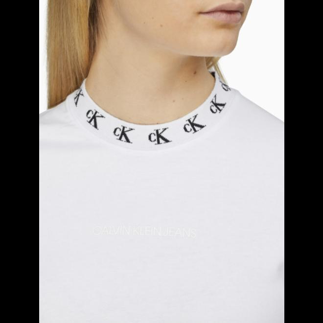 Logo Collar T-Shirt Dress