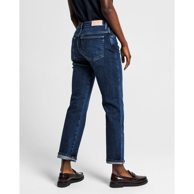Dark Blue Vintage Relaxed Fit Coastal Jeans women