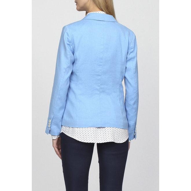 Classic Linen blend  jacket - Blue