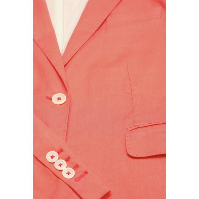 Classic Linen blend  jacket  - Red