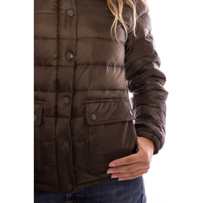 Padded Down jacket Women -  Dark cactus