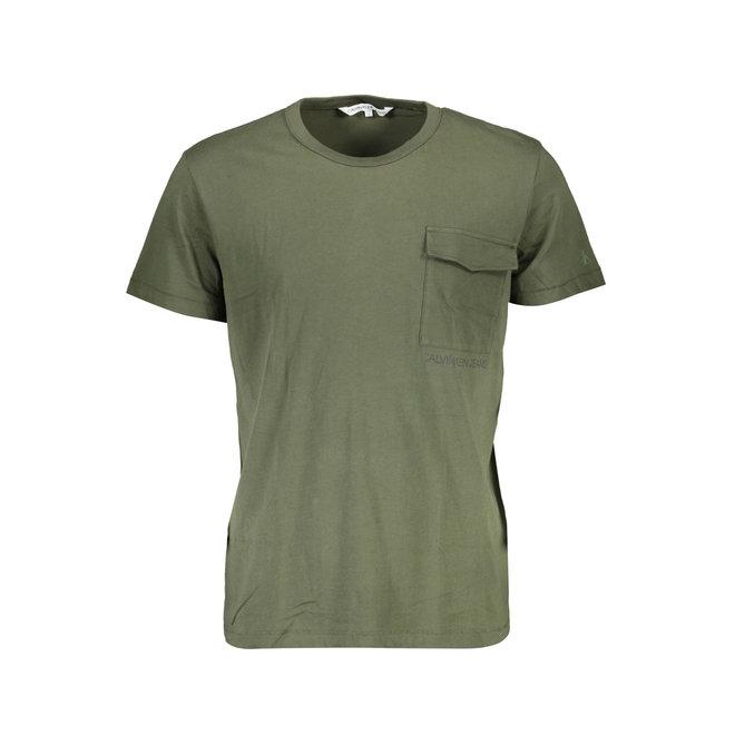 Utility Pocket Institutional Logo T-Shirt - Army green
