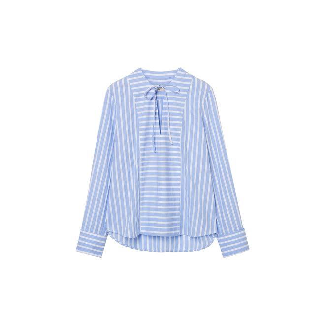 Tux Shirt with French Cuff Women - Blue