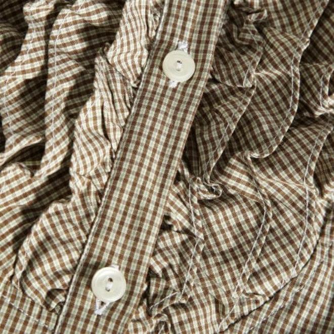 Ruffle check shirt  Women