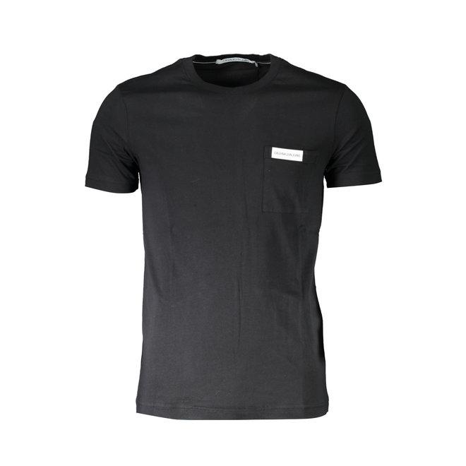 Slim Organic Cotton Pocket T-Shirt - Black