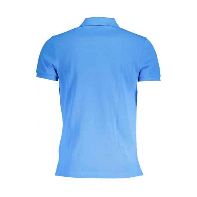 Logo stripe polo shirt - Light blue