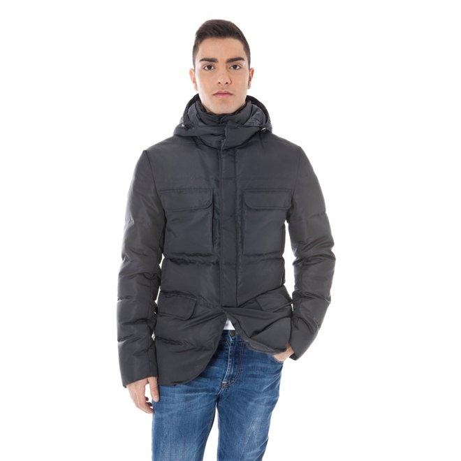 Padded hooded jacket - Grey