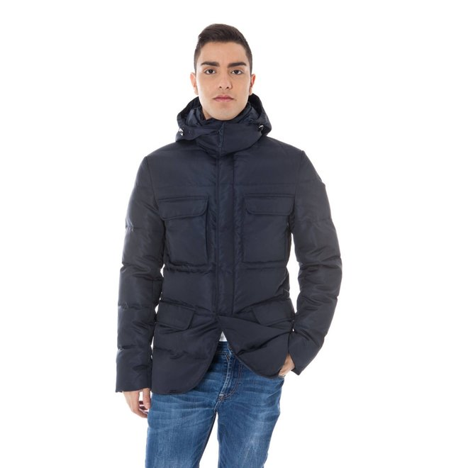 Padded hooded jacket - Blue