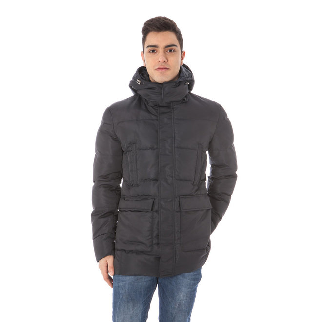 Quilted hooded jacket - Blue