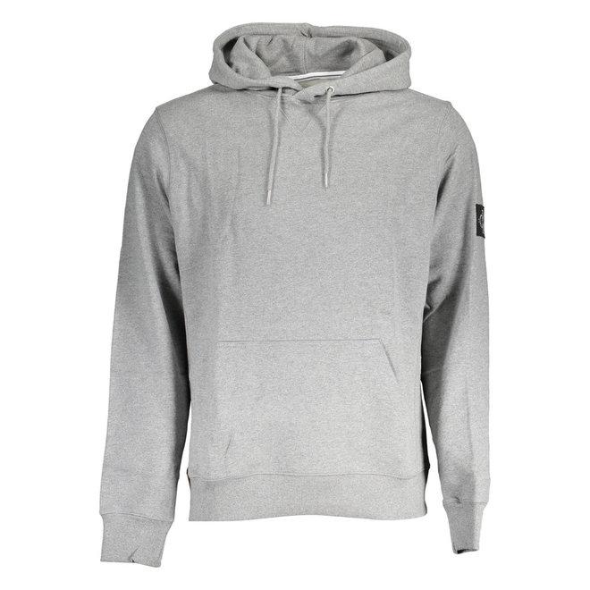 Monogram Sleeve Badge Hoodie -Grey