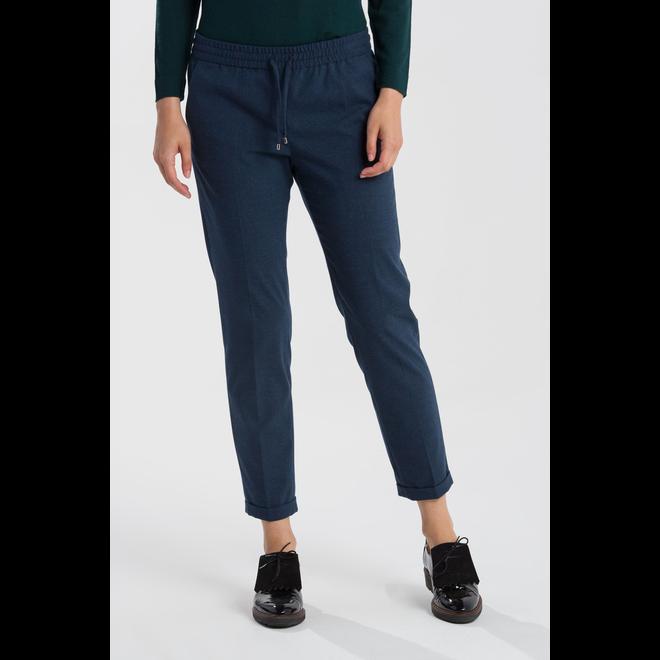 Wool Look Pull On Pants Women - Blue