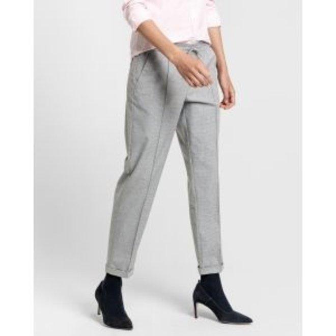 Wool Look Pull On Pants Women - Grey