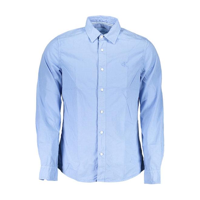 Slim poplin shirt - Light blue