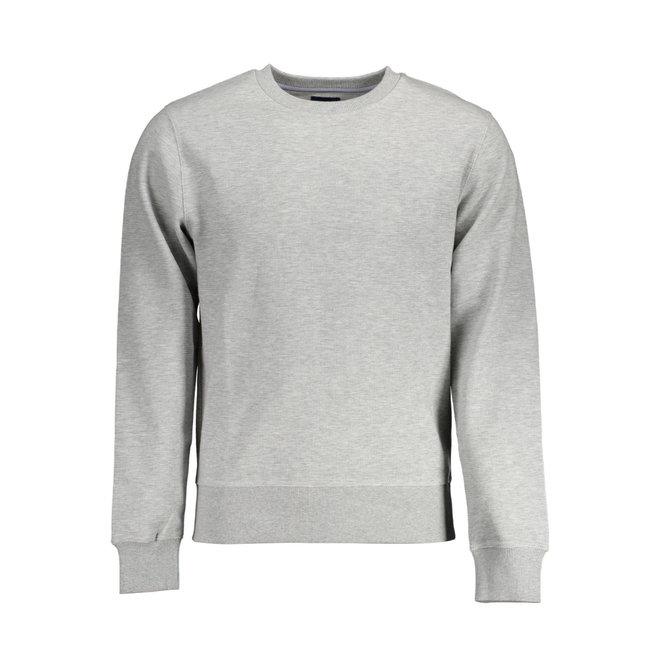 Grey Structure Crew Sweatshirt men