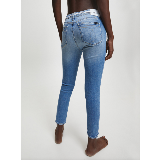 Mid Rise Skinny Ankle Jeans
