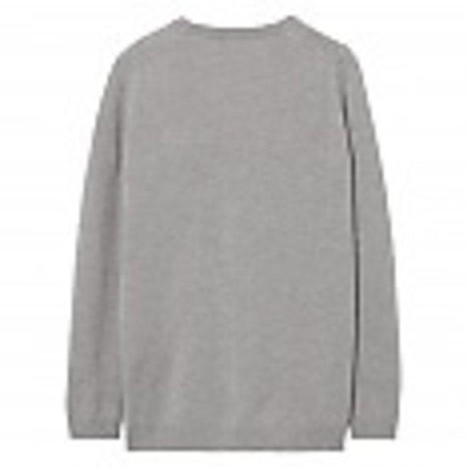 Lambswool V-Neck Cardigan - Grey