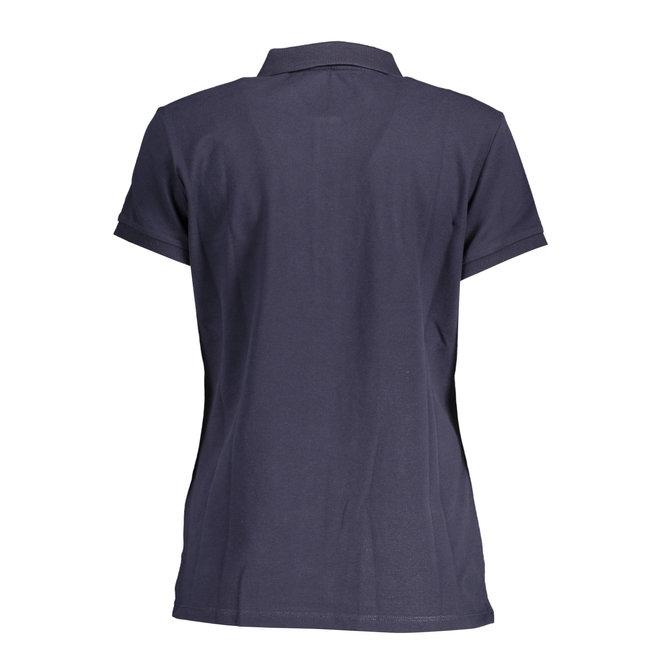 Contrast Collar Piqué Rugger - Evening Blue