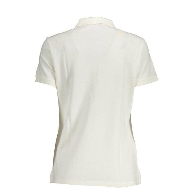 French Dot Detail Piqué women - White