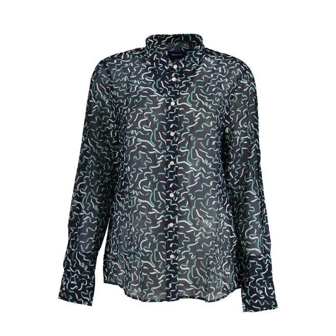 Ribbon Cotton Silk Shirt
