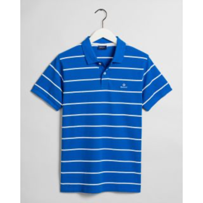 Blue Breton Stripe Piqué Rugger men