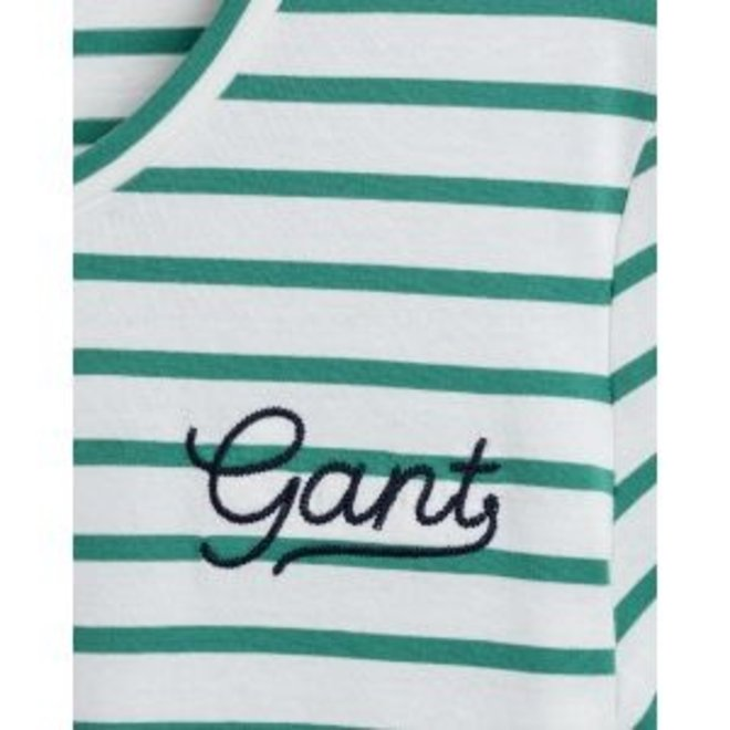 Jade Green Breton Stripe T-Shirt women