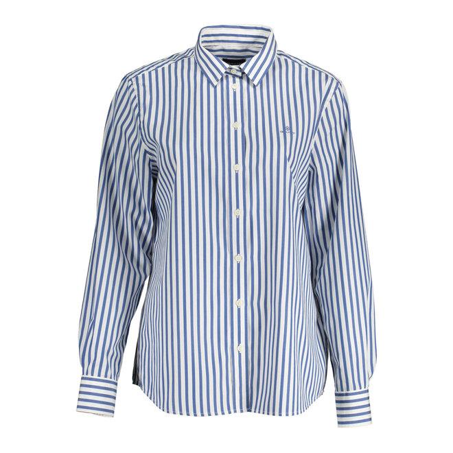 Raidallinen paita broadcloth-kankaasta