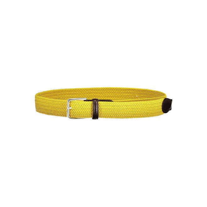 Yellow Elastic Braid Belt men