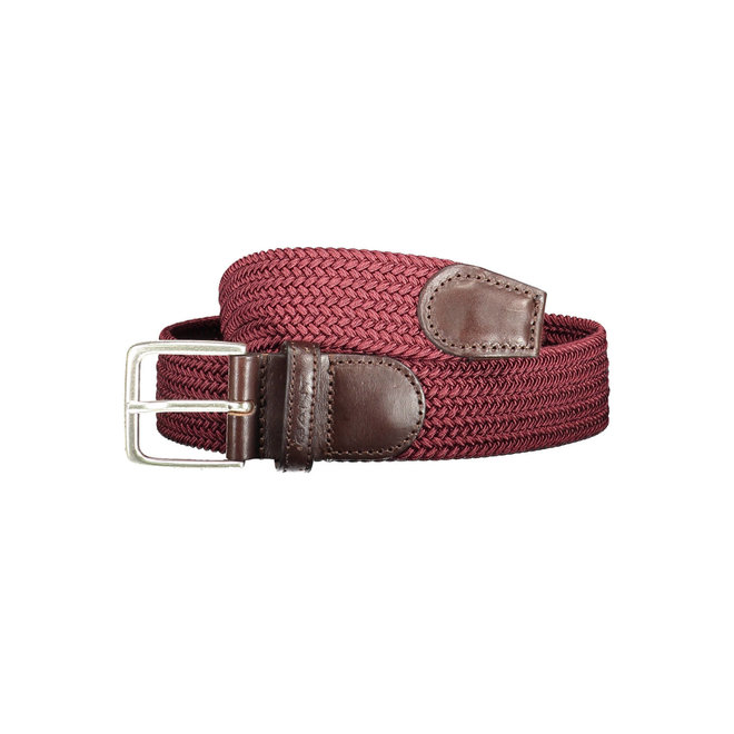 Elastic Braid Belt men - Mahogny Red
