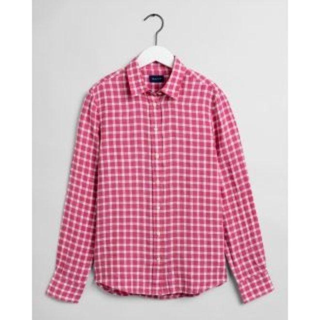 Rapture Rose Linen Chambray Gingham Shirt