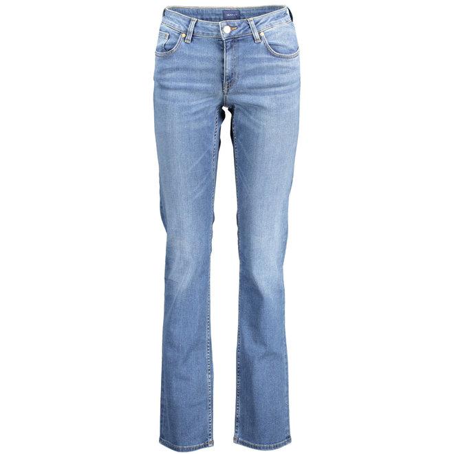 Straight Super Stretch Denim Jeans women