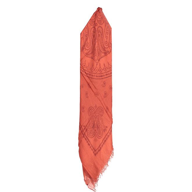 Orange scarf men