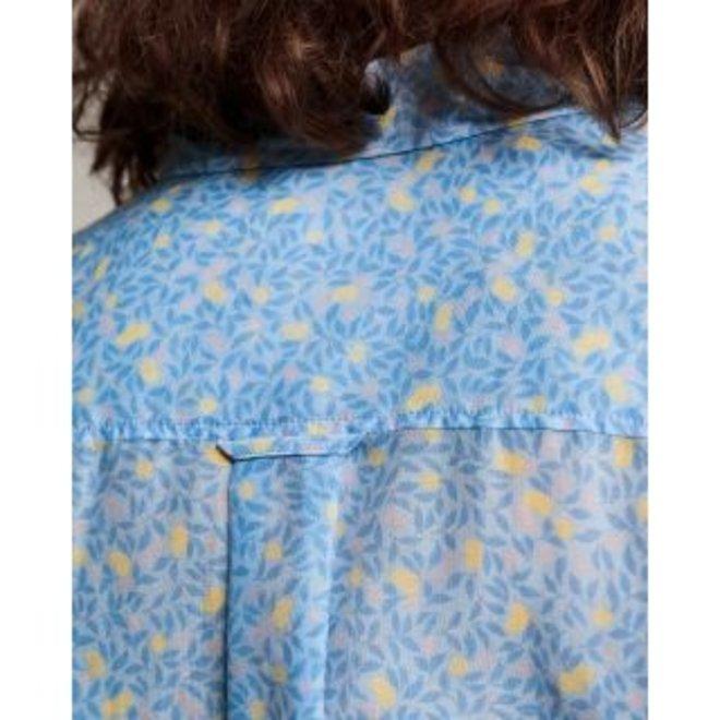 Blue Lemonade Cotton Silk Shirt women