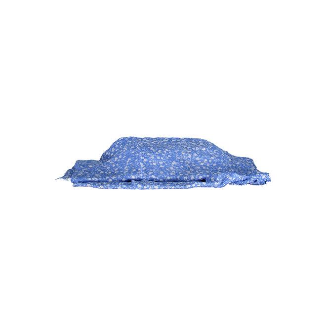 Women's blue scarf Mini Flowers